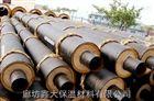 钢套钢聚氨酯蒸汽保温管 高温聚氨酯直埋保温管道大量施工