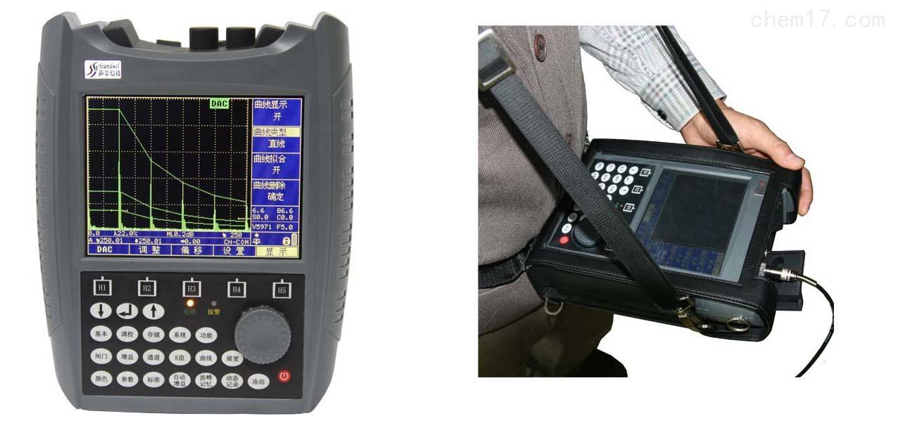 便携式超声波探伤仪MHY-26036 专为满足无损检测工程人员使用而设计, 是一种便携式工业无损探伤仪器,用于检测,定位,评估和诊断各种损伤,可以自如精确地对焊接缺陷,裂纹,工件内部气孔等缺陷进行无损检测。广泛应用于电力工程,锅炉压力容器,钢结构,军工,航空,铁路运输,自动机械设备等行业。是无损检测领域不可或缺的检测工具。 MHY-26036 型便携式超声波探伤仪技术参数 检测范围:0~25000mm 线性抑制:0~80% 采样频率:100MHz 声速范围:400~20000m/s 垂直线性误差:3% 增