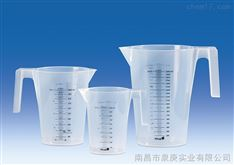 进口塑料带把刻度烧杯VITLAB德国进口PP可堆叠烧杯