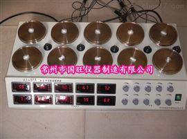 HJ-10A數顯十頭磁力加熱攪拌器