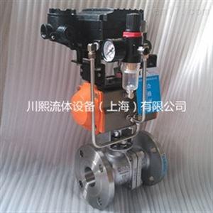 CXQ641F气动流量调节球阀