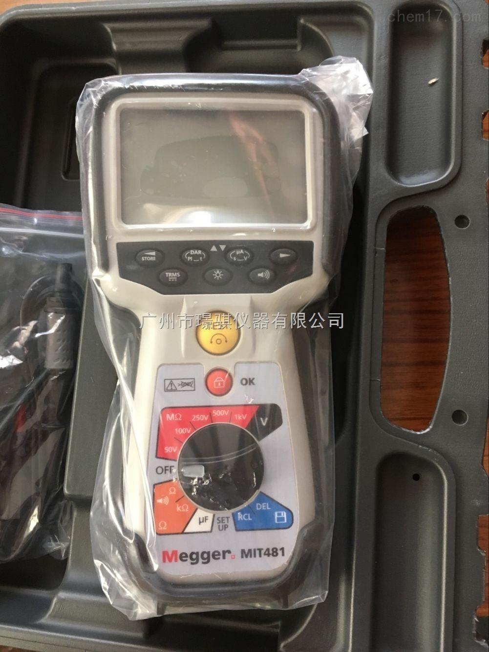 進口電阻測試儀MIT481絕緣電阻測試儀說明書