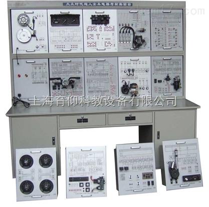 2,各模块上部:1,配电路原理图,各电器整齐系统摆放,每个部件标注名称