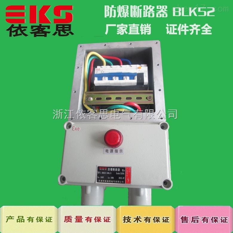 防爆负荷开关BLK52 -32/3 ,BLK52防爆断器  带防雨罩防爆断路器