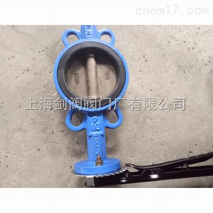 产品特点 手柄对夹脱硫蝶阀独特的阀座设计完全把阀体与流体介质隔开图片
