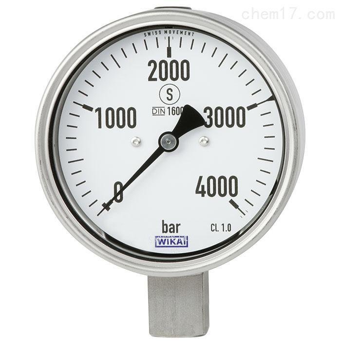 德国威卡WIKA不锈钢材质波登管压力表