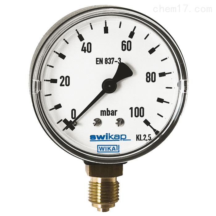 德国威卡WIKA铜合金材质膜盒式压力表