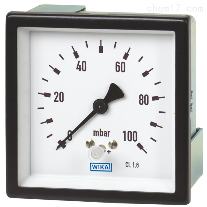 德国威卡WIKA铜合金或不锈钢材质膜盒压力表