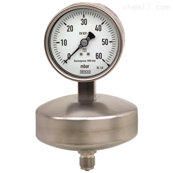 德国威卡WIKA不锈钢材质膜盒式压力表