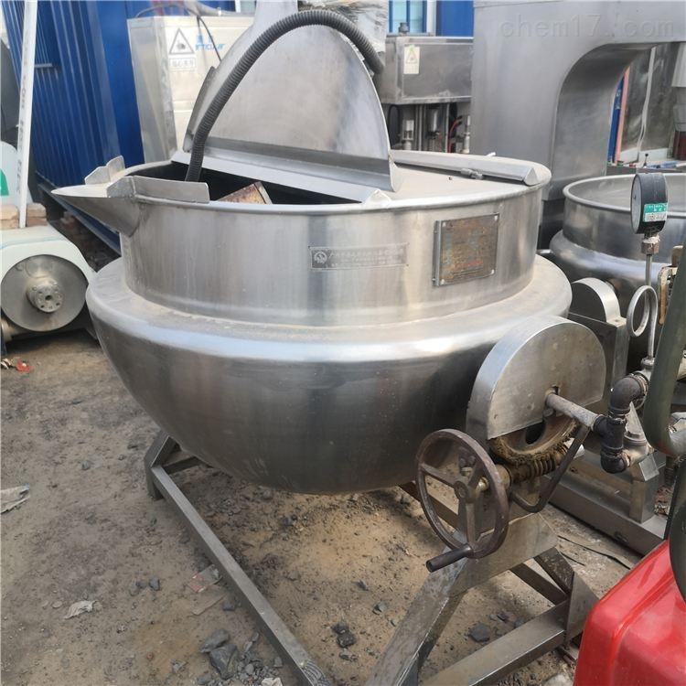 出售500L蒸汽二手夹层锅