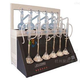 南京实验室挥发酚蒸馏仪JTZL-6Y氨氮蒸馏器