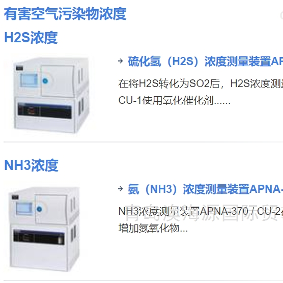 日本Horiba倔场硫化氢H2S浓度测量仪CU-1