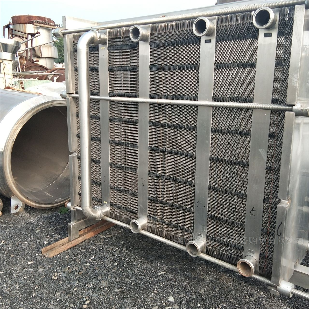 回收120平方螺旋板换热器