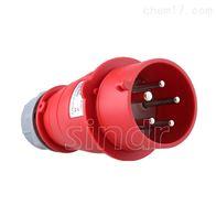 防水工业插头5孔