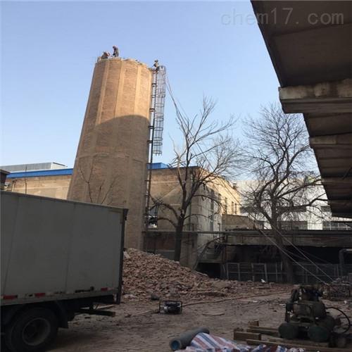 扬州市放倒烟筒公司-烟囱拆除