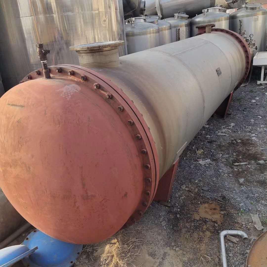闲置两台二手500平方不锈钢列管冷凝器