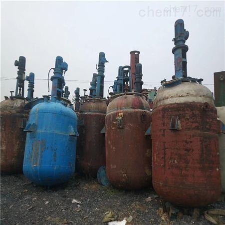 二手1-5吨搪瓷反应釜设备回收