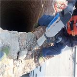 混凝土烟囱拆除-施工作业