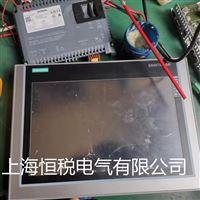 西门子触摸屏启动运行一会显示花屏维修处理