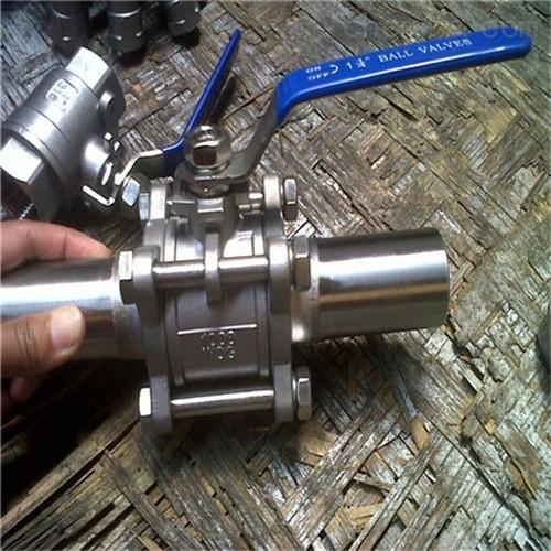 Q61F不锈钢三片式对焊球阀