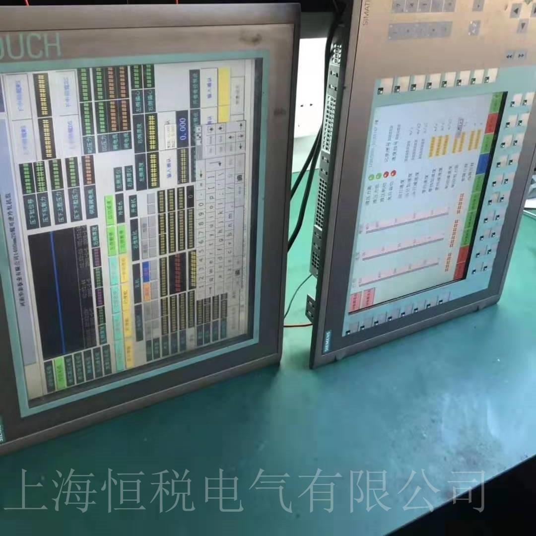 西门子触摸屏MP377通电屏幕无显示维修