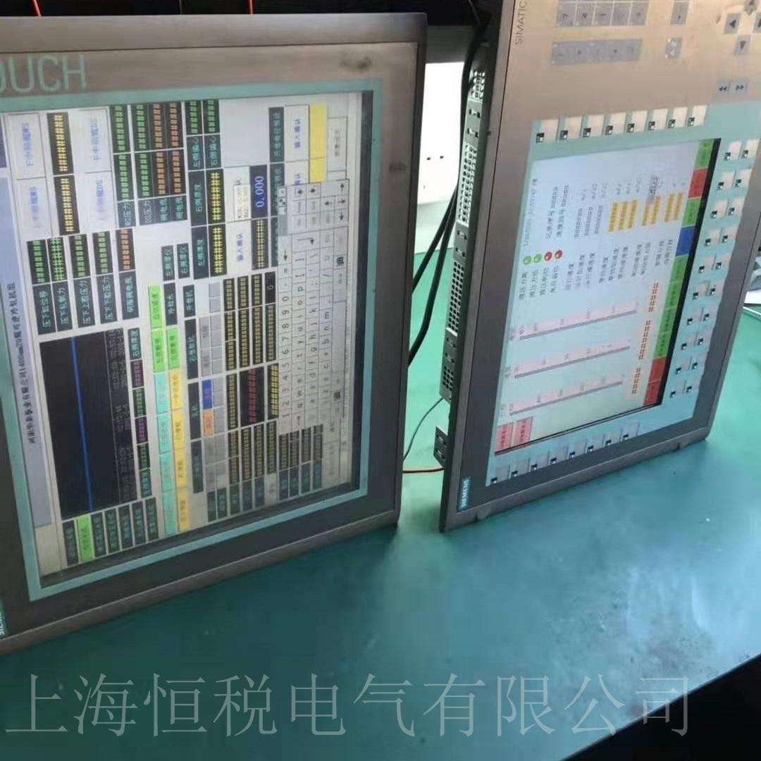 西门子触摸屏开机显示竖条/显示横条修理
