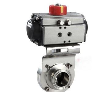 气动卡箍式快装卫生级蝶阀D681X质量保障