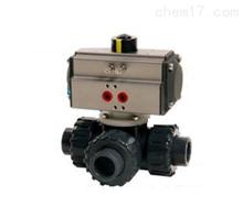 Q614/615S气动-塑料三通球阀