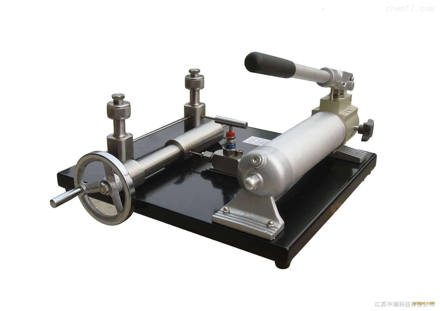 台式压力泵设置
