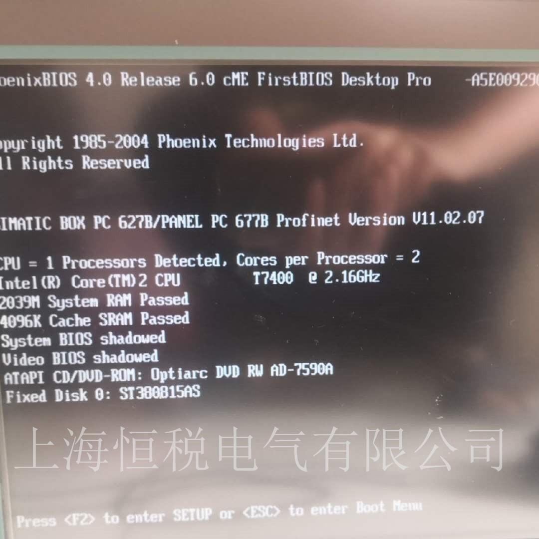西门子工控机PC847通电无法启动维修小技巧
