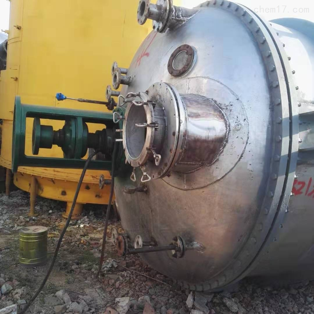 天津出售10立方10个厚外加套不锈钢反应釜