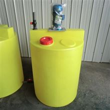 MYJY-300L洗洁精加药桶带搅拌配不锈钢板