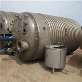 25m³现货出售二手不锈钢外盘管反应釜