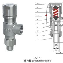 A21H弹簧微启式外螺纹安全阀现货直销