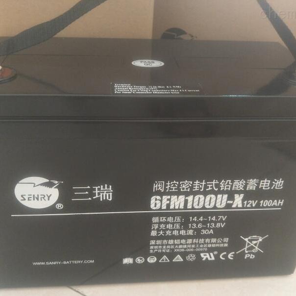 三瑞蓄电池6FM100U-X销售中心