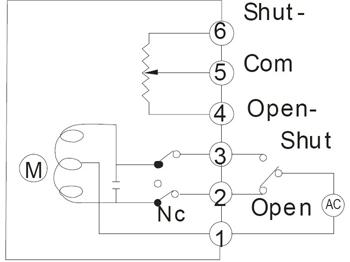 开关型带电阻电位计反馈接线图