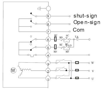 AC380V三相电源接线图带无源信号反馈