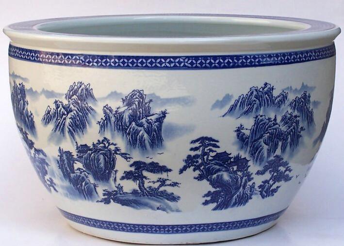 景德镇手绘瓷器鱼缸