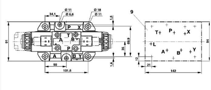 力士乐rexroth电磁换向阀按阀芯相对于阀体的运动方式:滑阀和图片