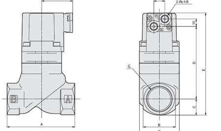 我们在生产中常用的电磁阀有二位三通,二位四通,二位五通等.图片