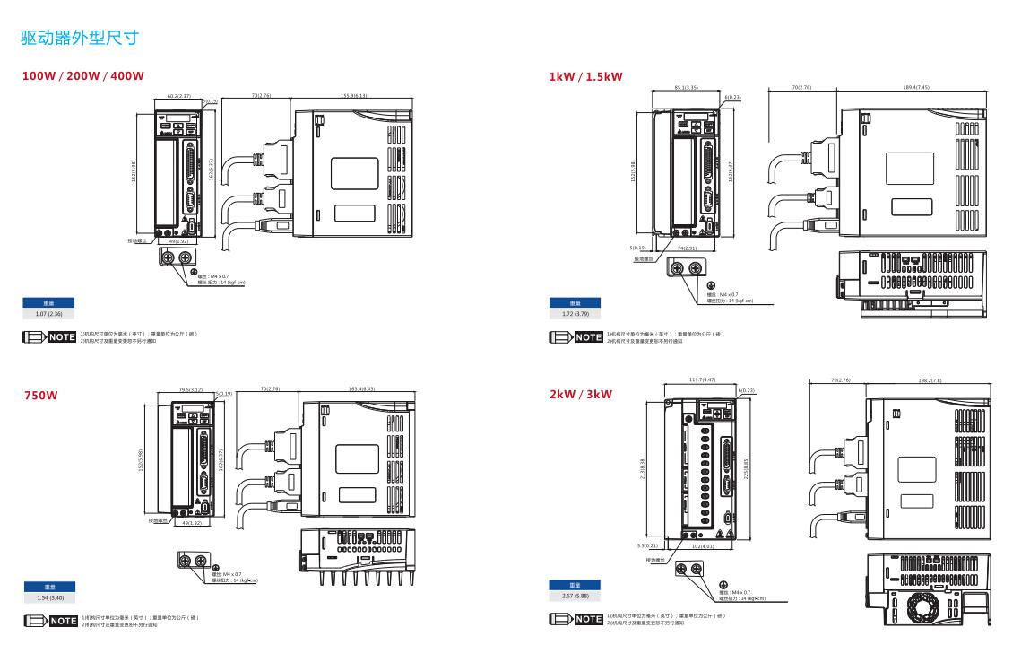 台达伺服电机750w ecma-c20807rs/ps b2驱动器asd-b2