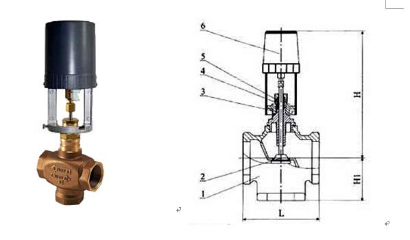 由温度传感器te-1,比例积分温度控制器tc-1和电动两通调节阀tv-1图片
