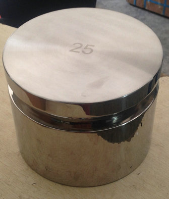 25kg钢制镀铬砝码价格