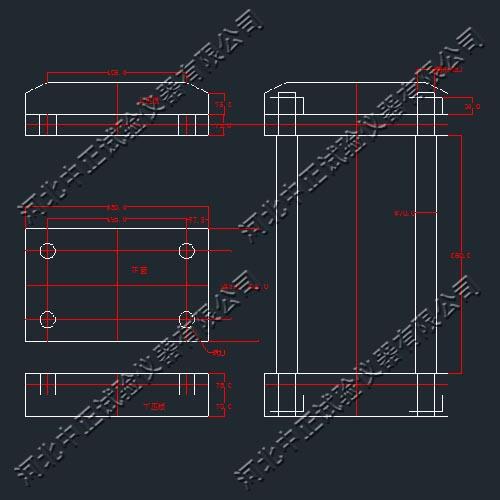 反力图纸CAD框架衣柜铰链图纸图片