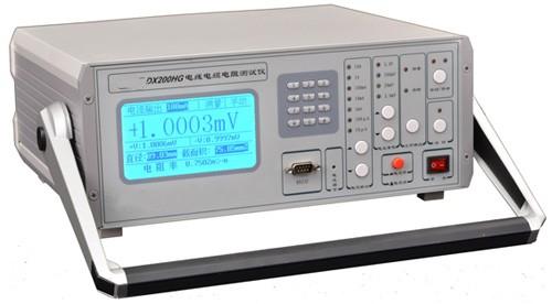 由用户输入);电线截面积(系统运算结果);电阻率(系统根据输入值和测试