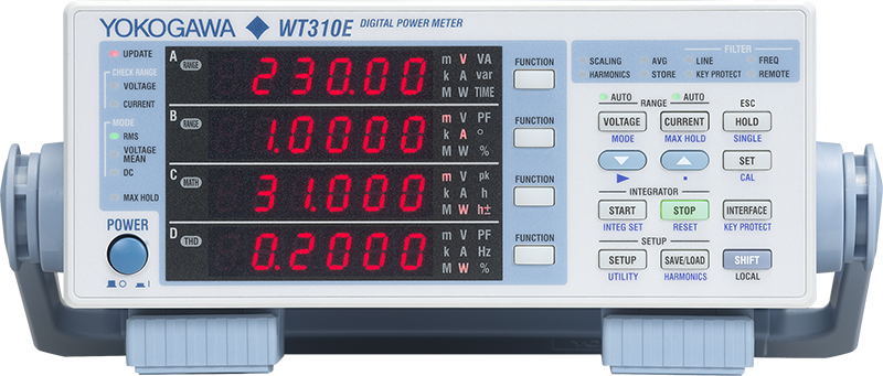 wt310e提供的电流测量功能最低到50微安左右
