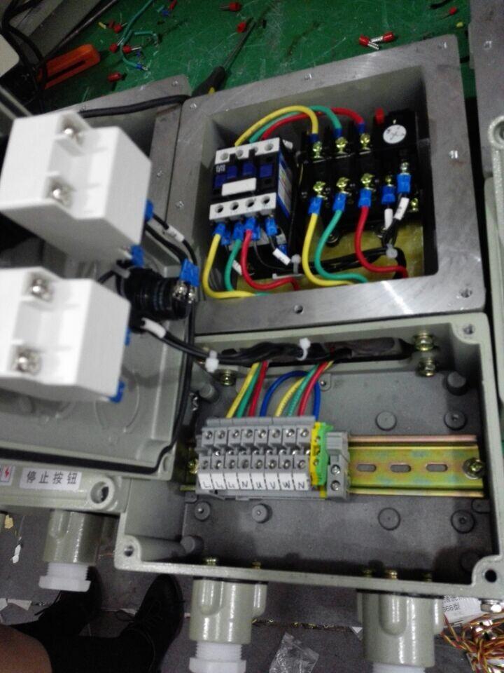 防爆磁力启动器内部结构接线图