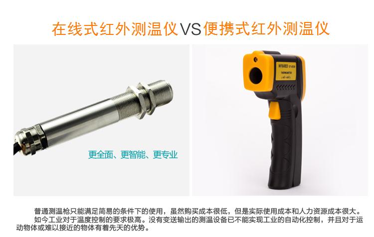 红外测温仪可快速提供温度测量,在用热偶读取一个渗漏连接点的时间内