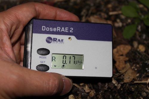个人剂量测试仪现场测试