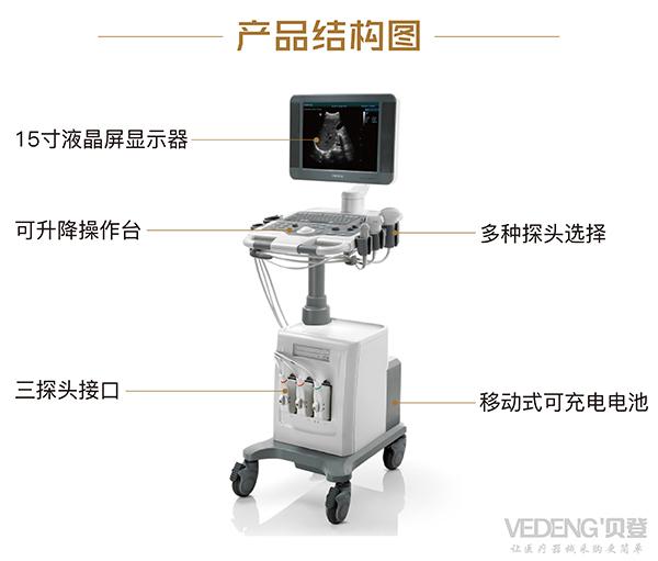 <strong>迈瑞台式黑白超声诊断仪</strong>DP-7产品结构说明